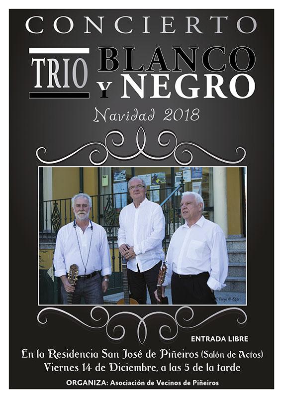 Cartel Blanco Y Negro